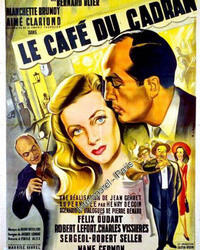AFFICHE CAFE CADRAN PARIS CINEMA