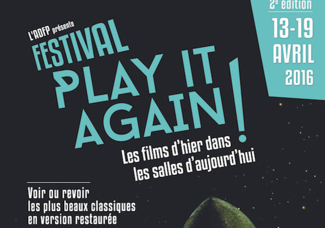 Affiche Festival Play It Again Cinema Paris