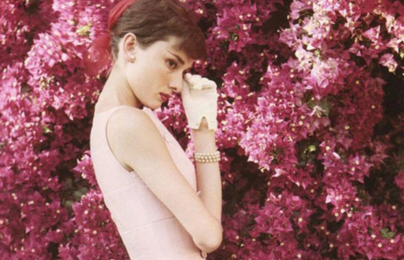 Audrey Hepburn Givenchy 1955 Pink Dress 2