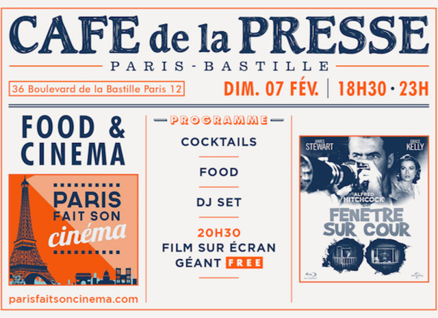 Food Cinema Paris Evenement Fenetre Sur Cour