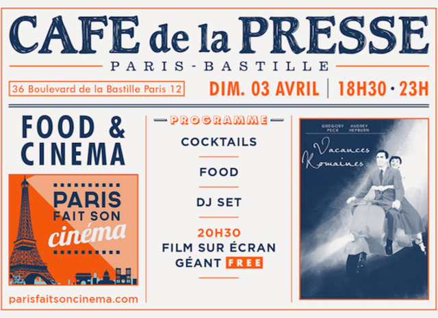 Food Cinema Vacances Romaines Paris Soiree SITE