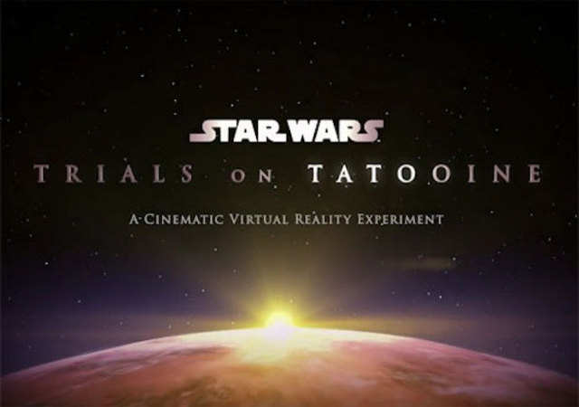 HTC Vive Experience Star Wars Casque Realite Virtuelle Trials Tatooine Lucasfilm
