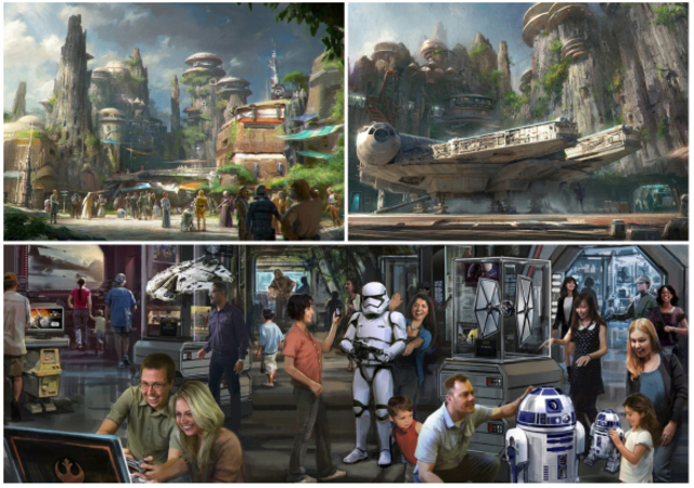 Maquettes Star Wars Land