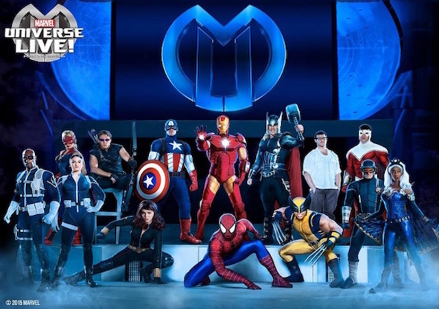 Spectacle Accorhotels Arena Bercy Marvel Universe Live Super Heros Comics Cinema