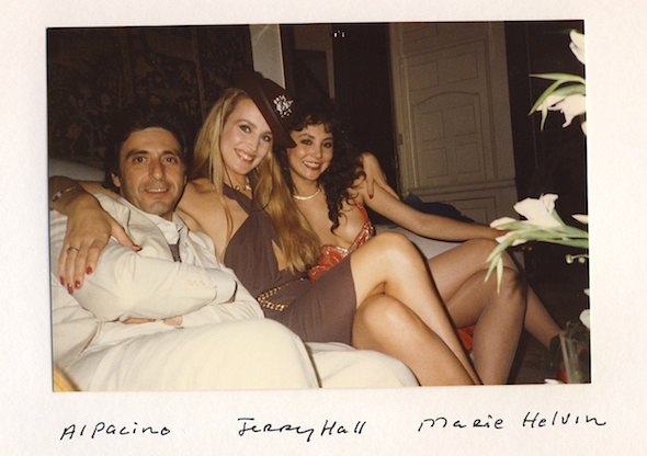 Al Pacino Jerry Hall and Marie Helvin