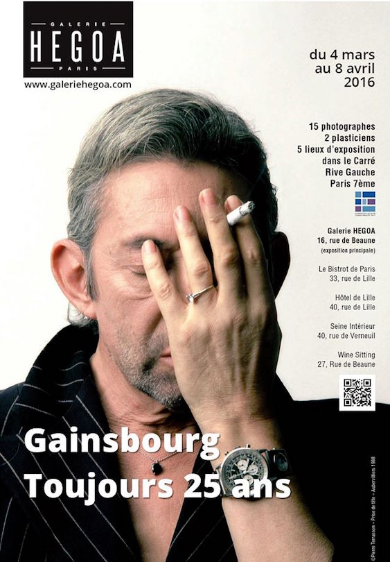 Gainsbourg Affiche Galerie Hegoa Exposition Verneuil 25 Ans Commemoration Musique Cinema Photo