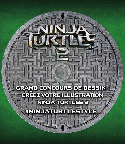 Plaque Egouts Tortues Ninja Turtles