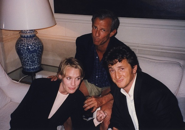 Robin Wright Peter Beard and Sean Penn