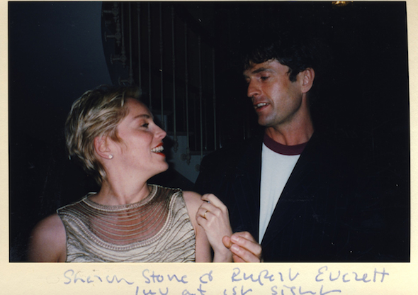 Sharon Stone and Rupert Everett